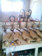 华洲数控电脑雕刻机浮雕圆雕一托六木全自动