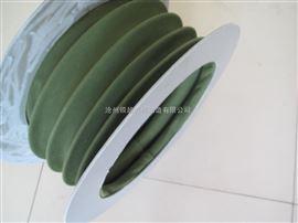 内放钢丝圈加固型帆布通风软连接  方形帆布软连接