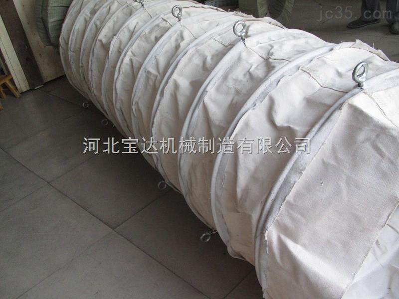 干石灰颗粒粉尘耐腐蚀帆布输送布袋定做