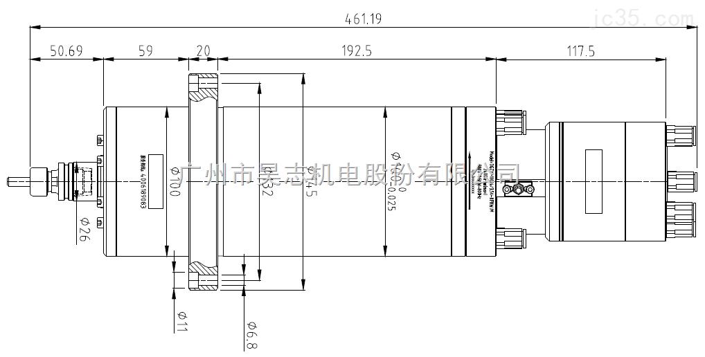 DGZX-10024/3.5U-KFHWJM 超声波气浮主轴是一款超精气浮+超声波复合加工电主轴,最高转速为24,000 rpm,本产品主要用于硬脆材料加工,如陶瓷、蓝宝石玻璃、半导体、石英等材料的高效超精加工;或应用于雕铣机或加工中心进行有色金属、黑色金属、玻璃、石墨等材料的高效超精加工。 DGZX-10024/3.