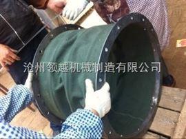 化工厂耐腐蚀帆布除尘伸缩软连接定做