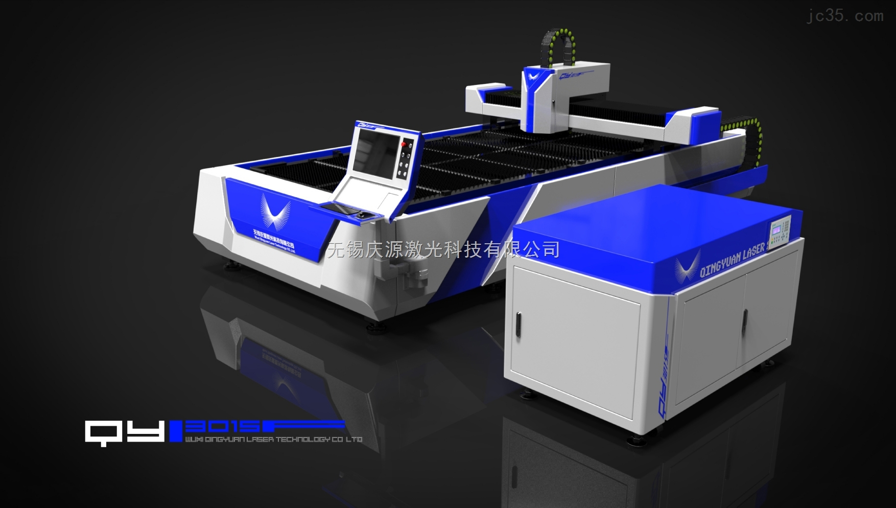 高速精密单驱光纤激光切割机