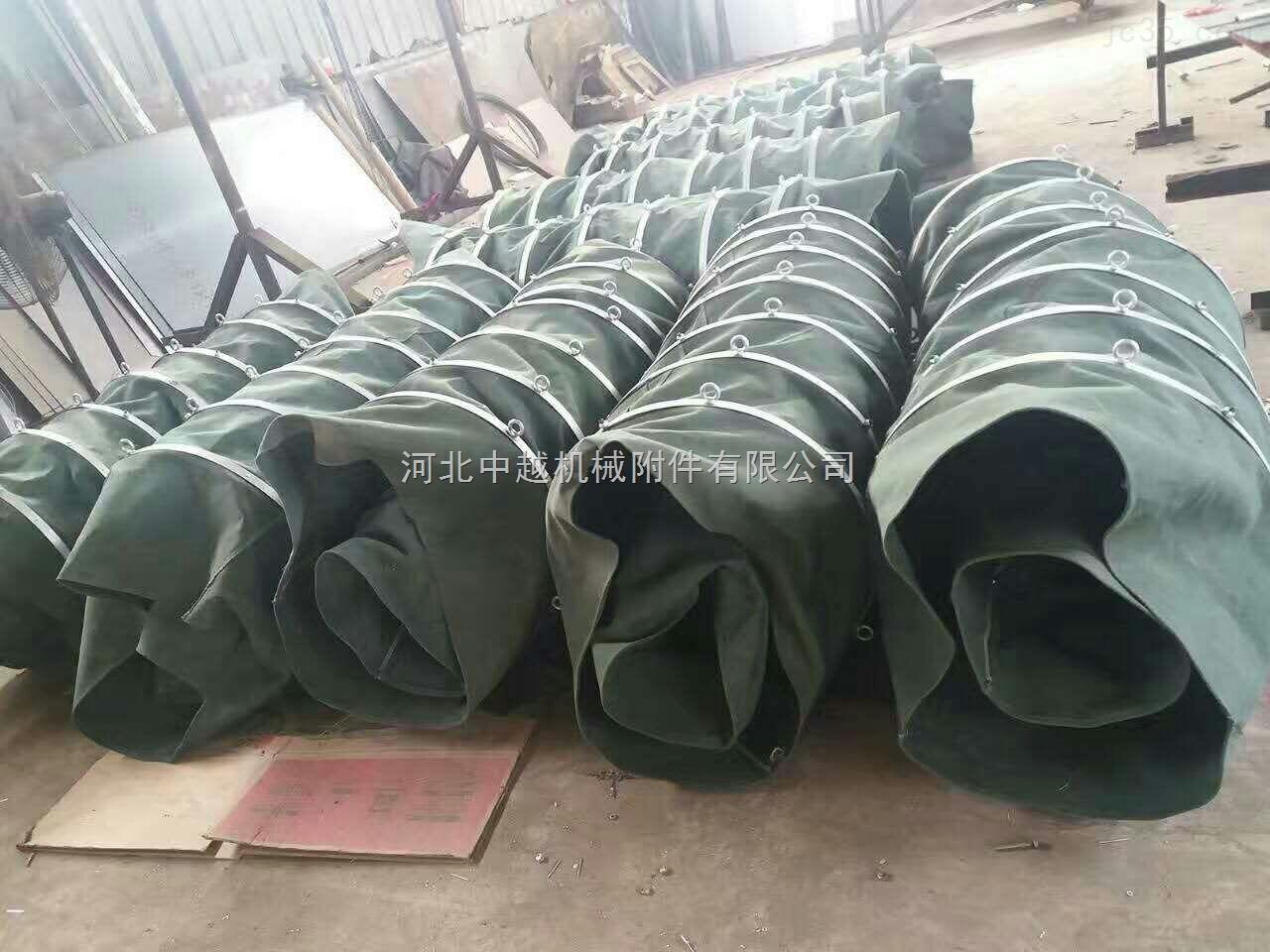 石灰厂设备吊环式帆布伸缩通风软连接