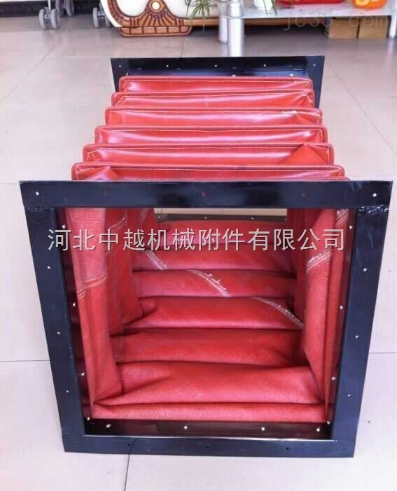 红色硅胶布软连接厂家