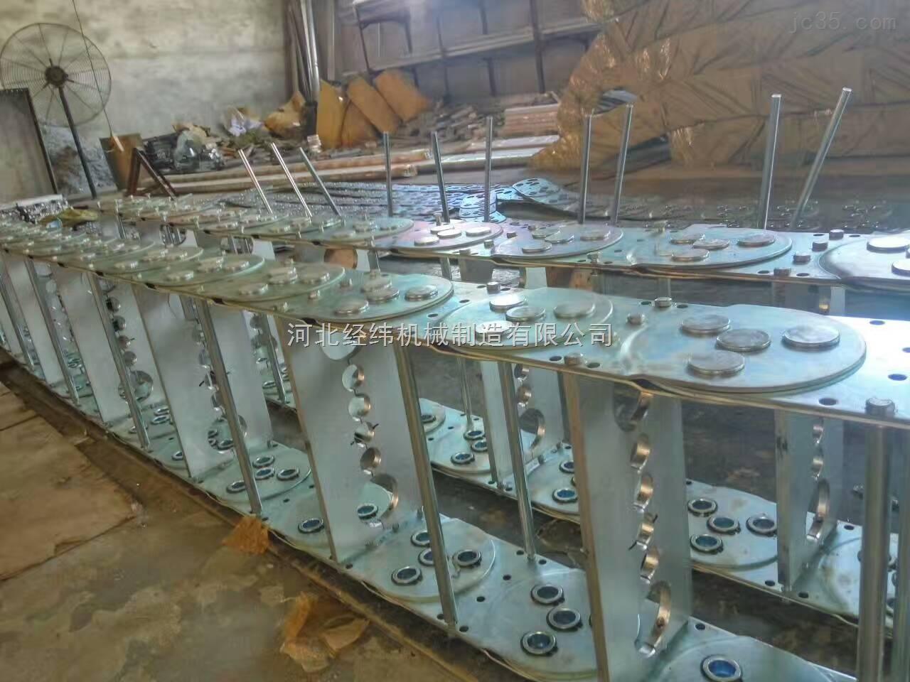 不休钢制拖链 穿线金属钢铝拖链定制厂家
