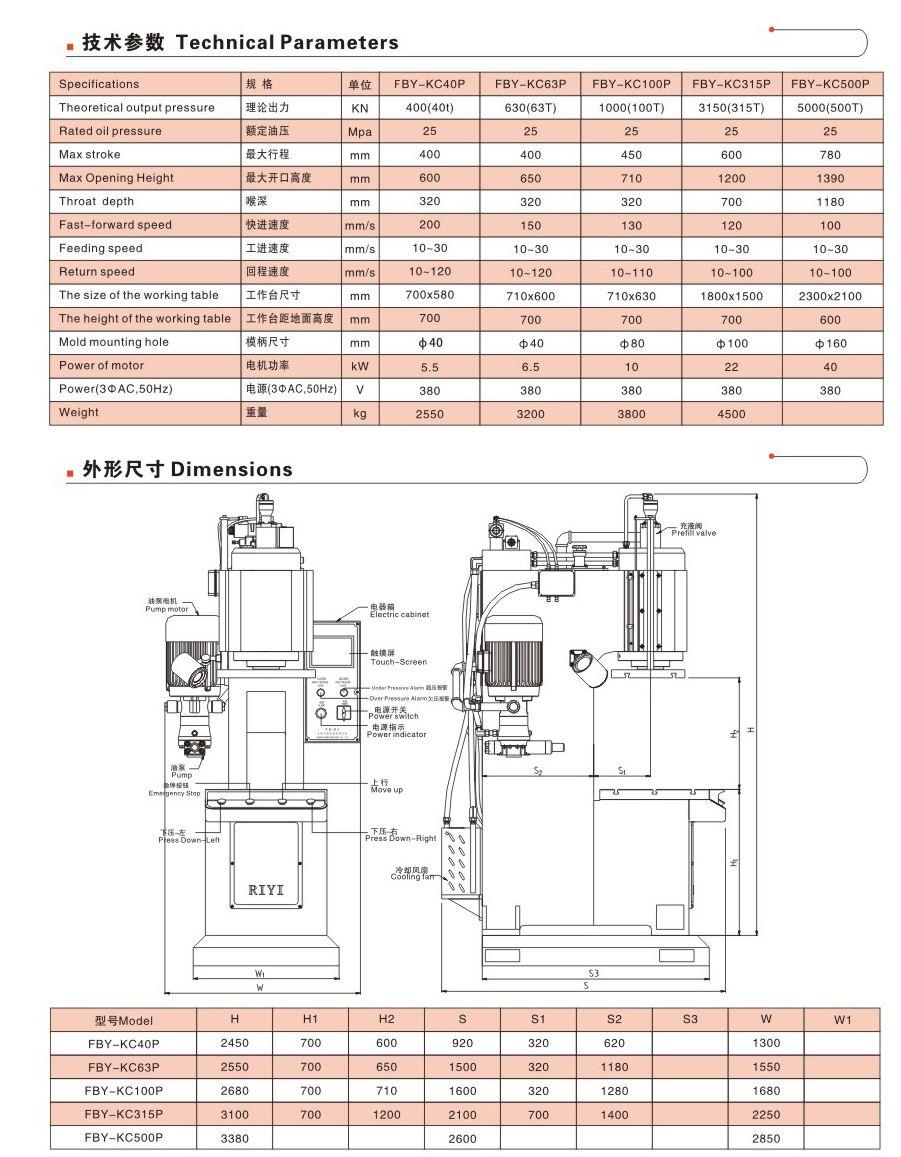 fby-kc315p-大型液压冲床图片